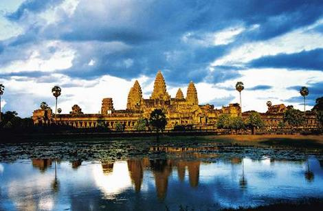 angkor wat temple. The temple had remained